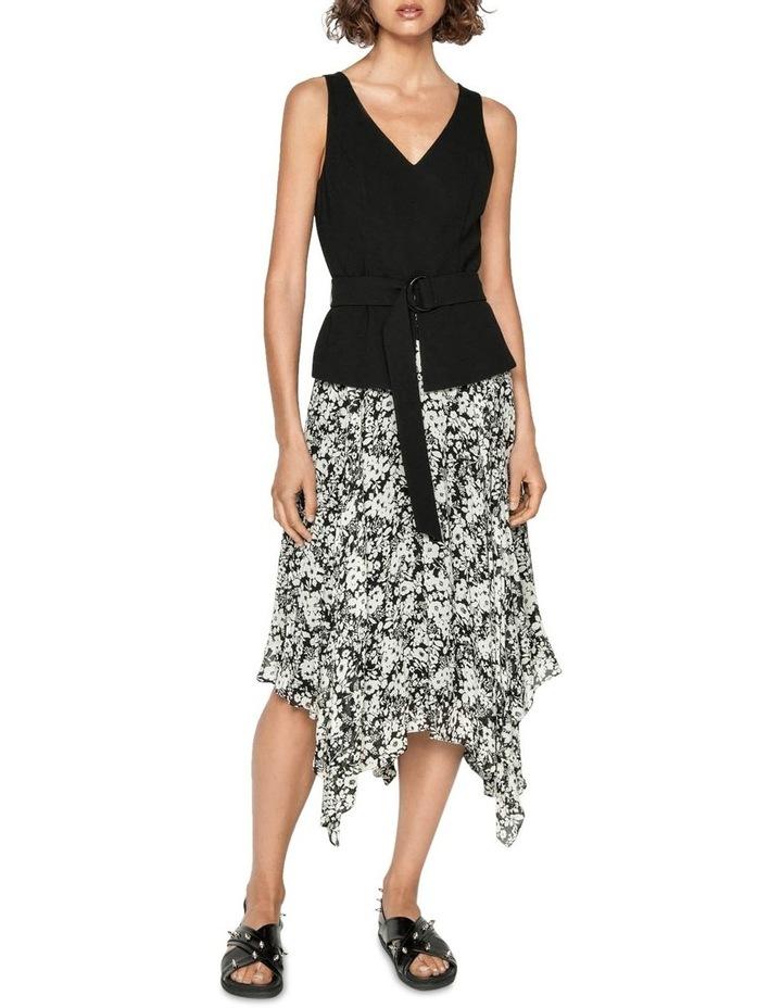 Monochrome Poppy Midi Dress image 1