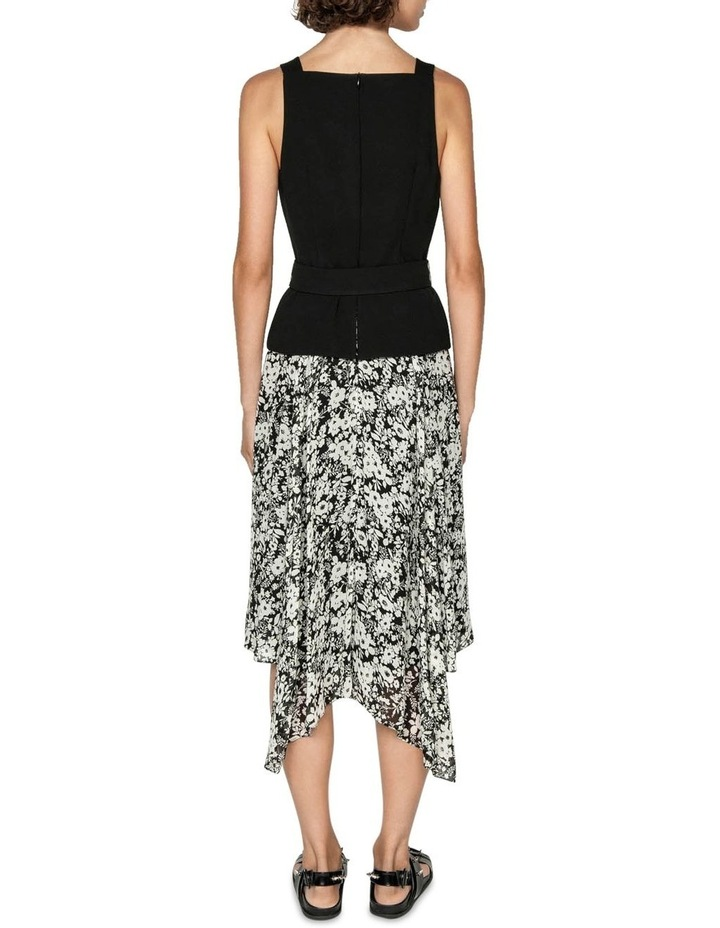 Monochrome Poppy Midi Dress image 3