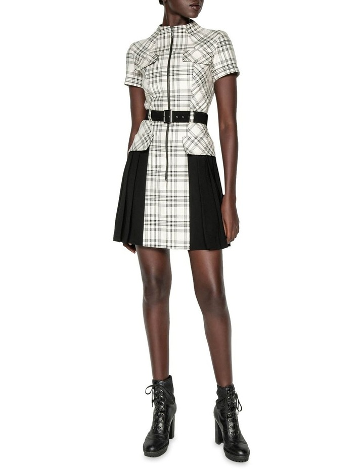 Pleated Check Utility Dress image 1