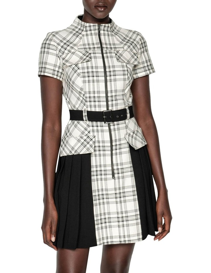 Pleated Check Utility Dress image 2