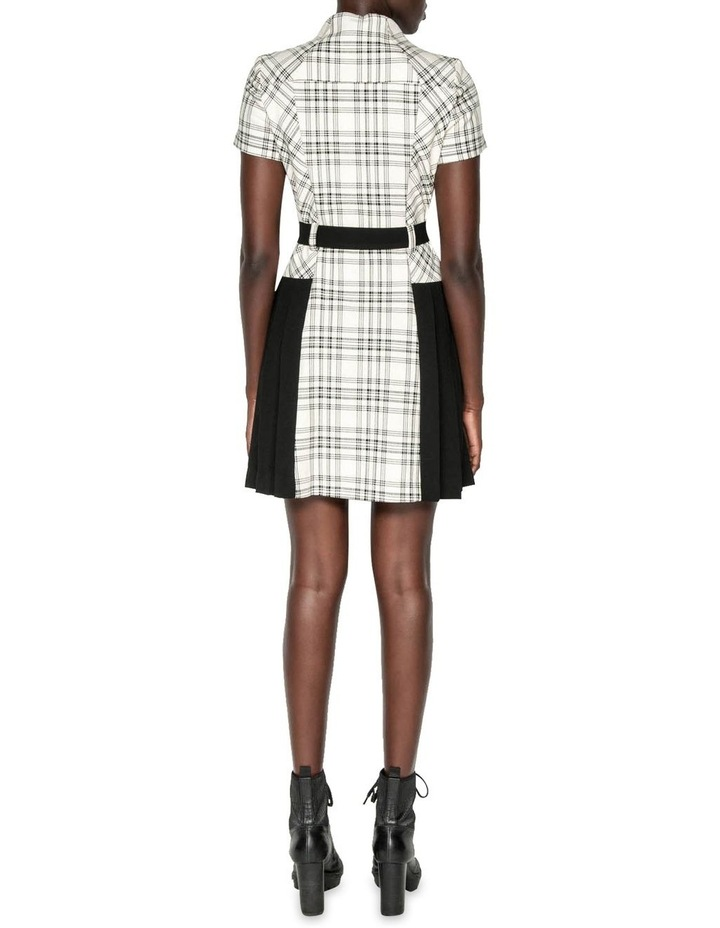 Pleated Check Utility Dress image 3