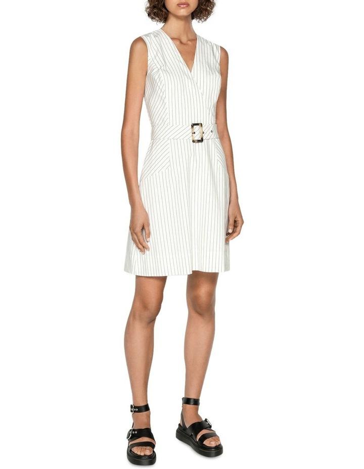 Pinstripe A-Line Dress image 1