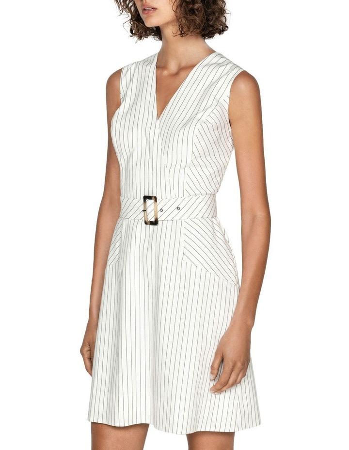 Pinstripe A-Line Dress image 2