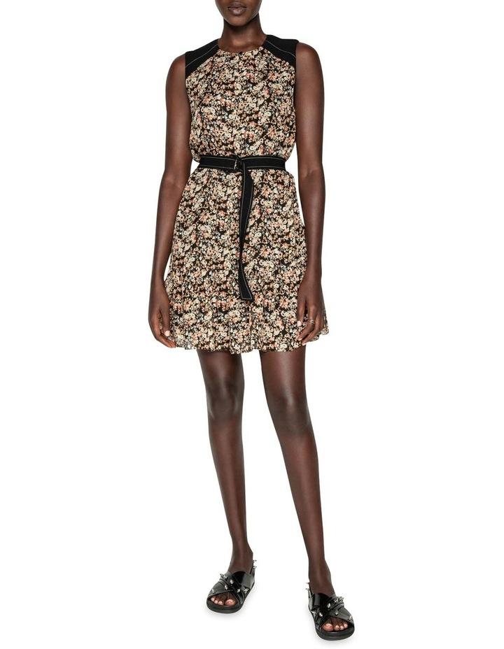 Mini Floral Belted Dress image 1
