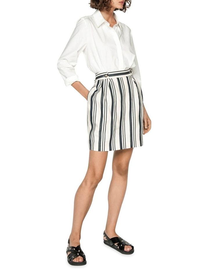 Striped Linen Skirt image 1