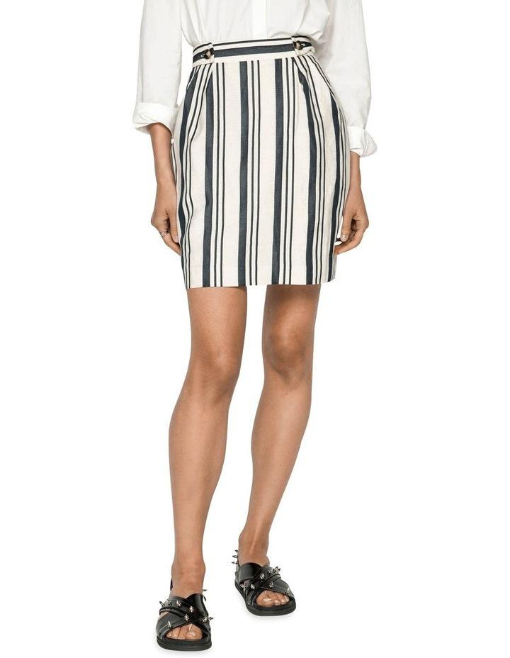 Striped Linen Skirt image 2