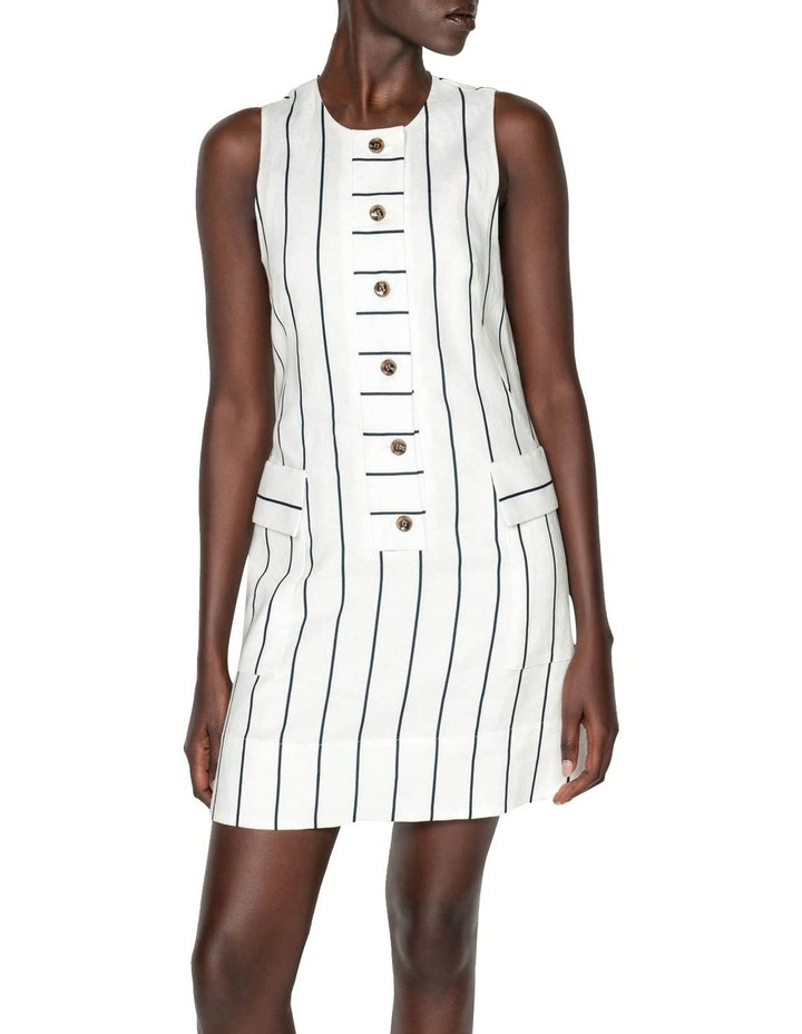 Striped Linen Button Front Dress image 2