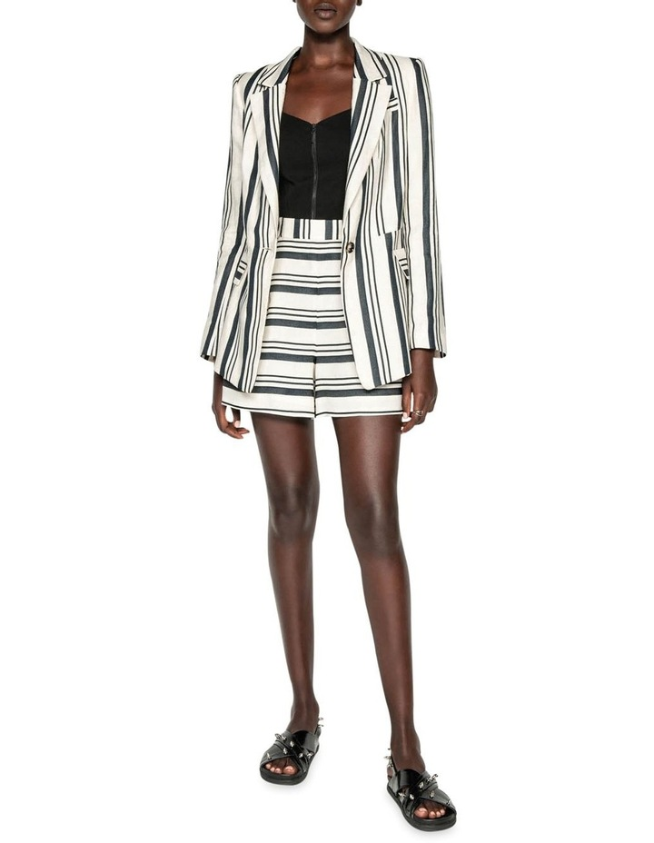Striped Linen One Button Jacket image 1