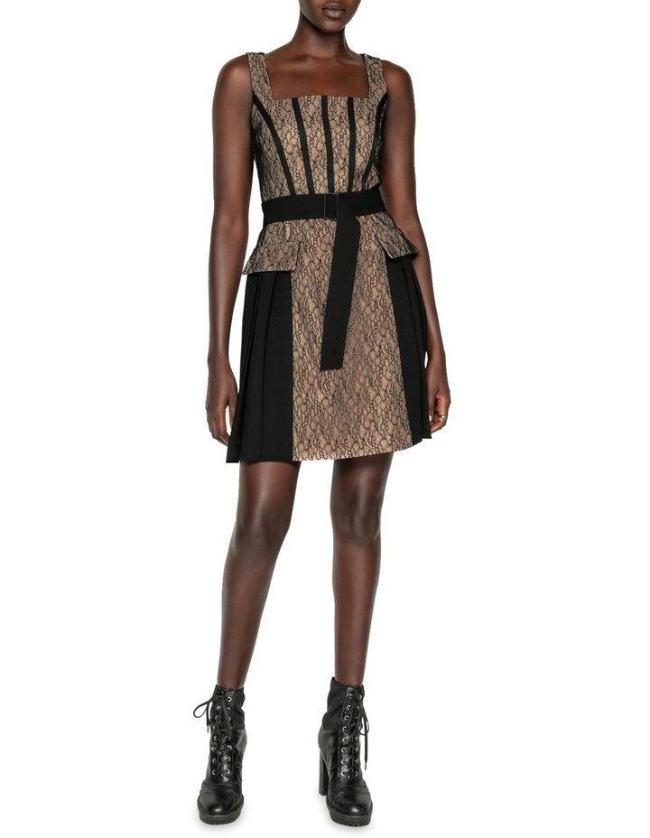 Corded Mesh Square Neck Dress image 1