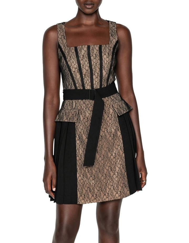 Corded Mesh Square Neck Dress image 2