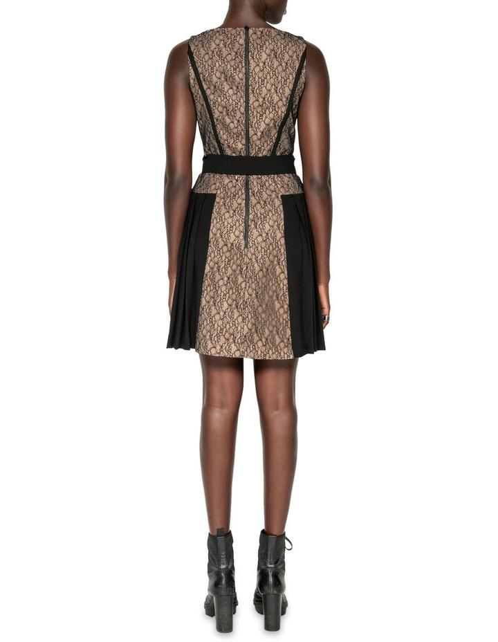 Corded Mesh Square Neck Dress image 3