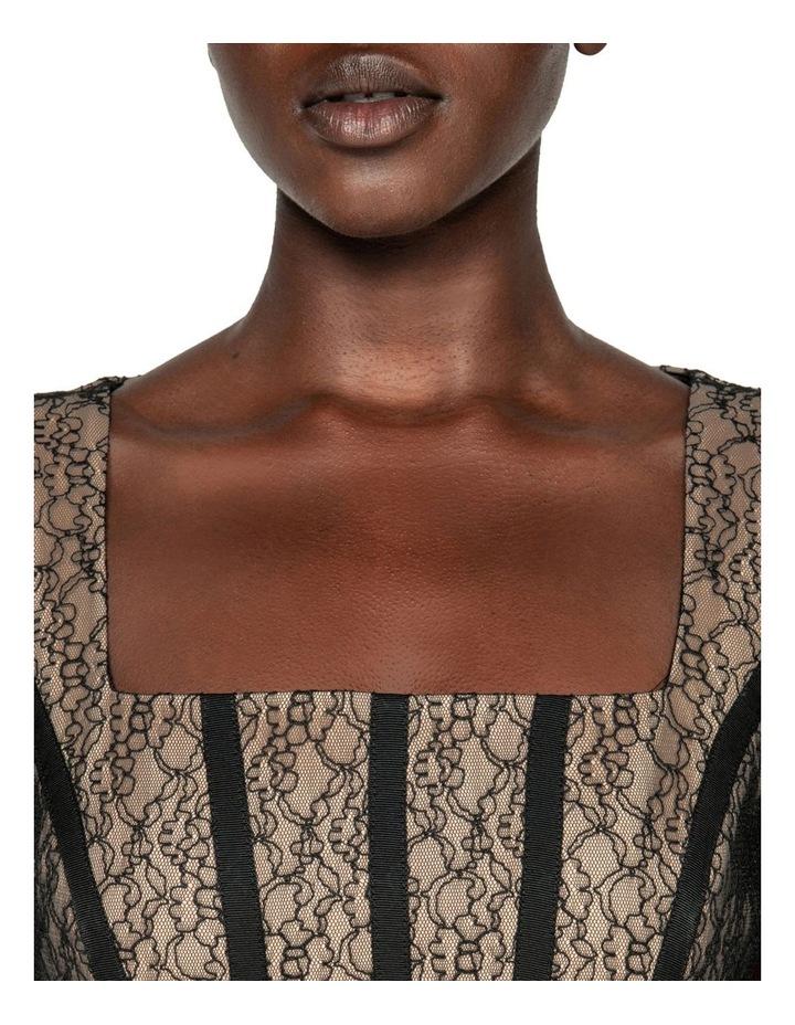 Corded Mesh Square Neck Dress image 4
