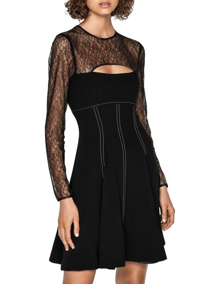 Corded Mesh Long Sleeve Dress image 2