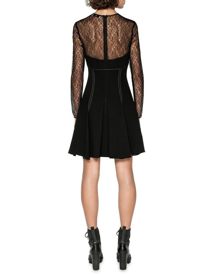 Corded Mesh Long Sleeve Dress image 3