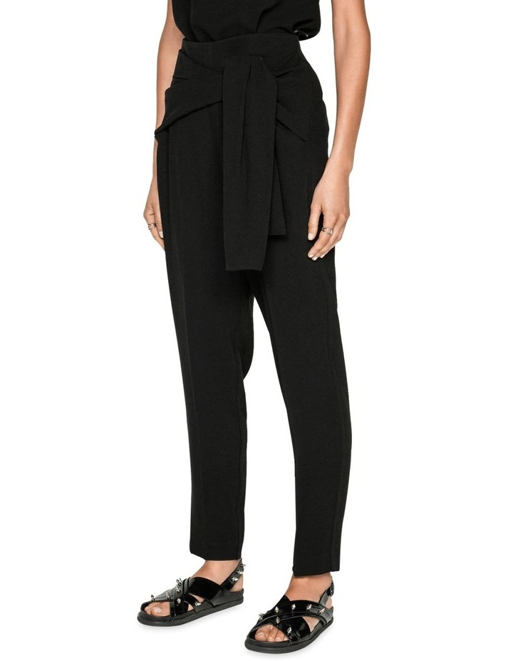 Crepe Tie Front Tapered Pant image 2