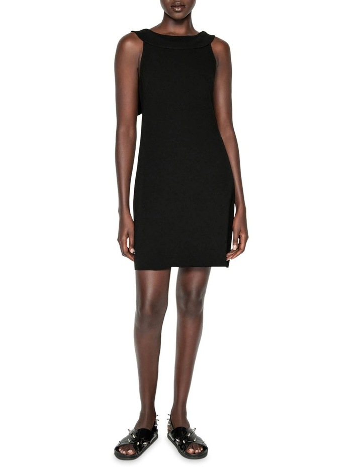 Crepe Draped Boat Neck Dress image 1
