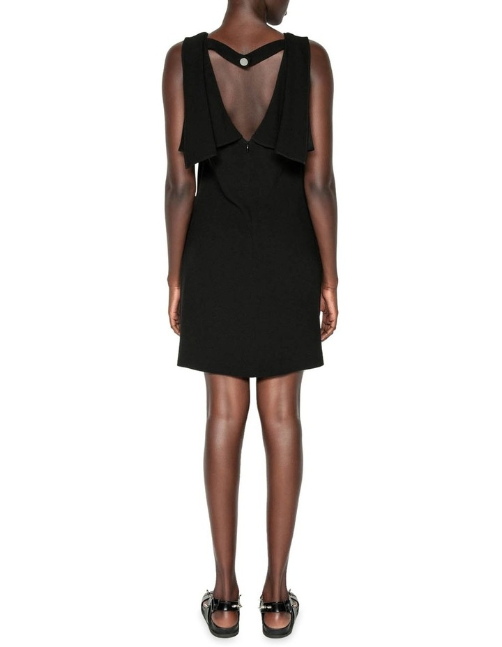 Crepe Draped Boat Neck Dress image 3