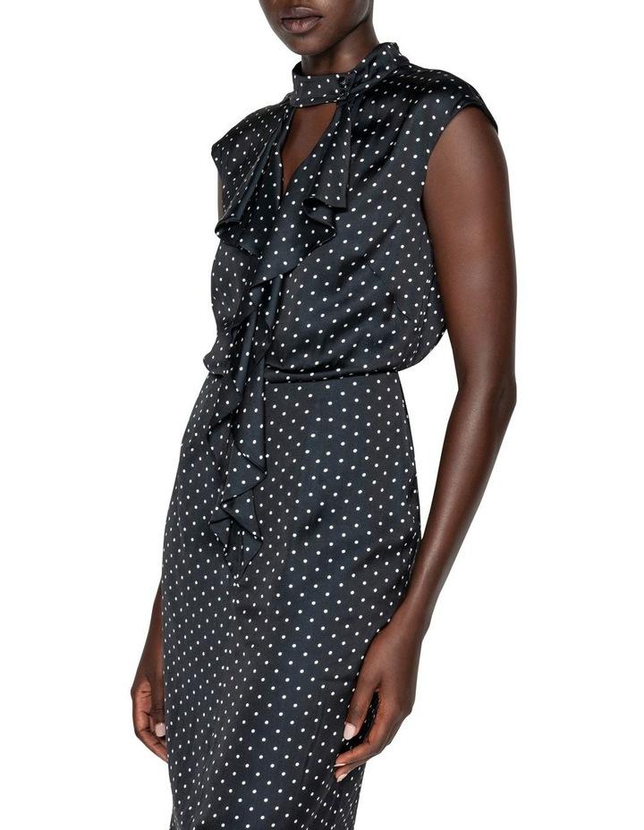 Spot Frilled Midi Dress image 2