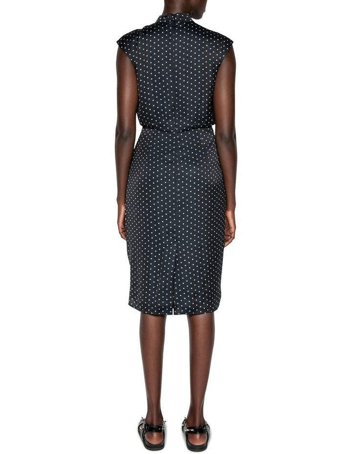 Spot Frilled Midi Dress image 3