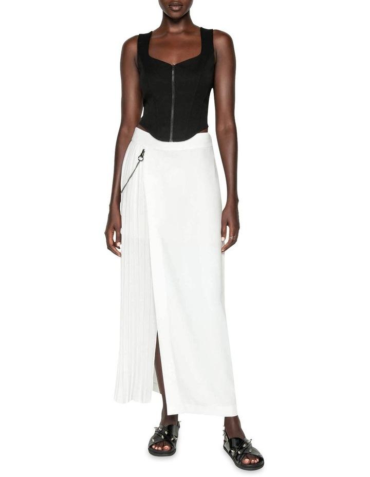 Pleated Column Maxi Skirt image 1