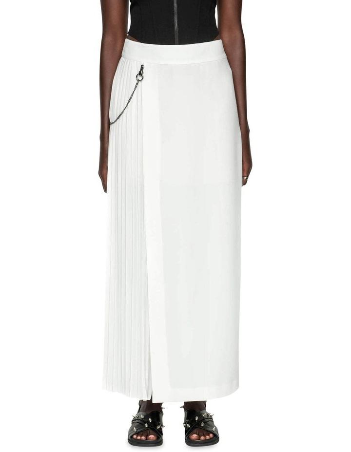 Pleated Column Maxi Skirt image 2