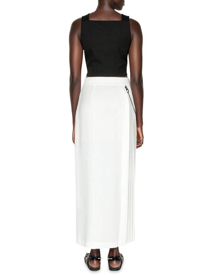 Pleated Column Maxi Skirt image 3