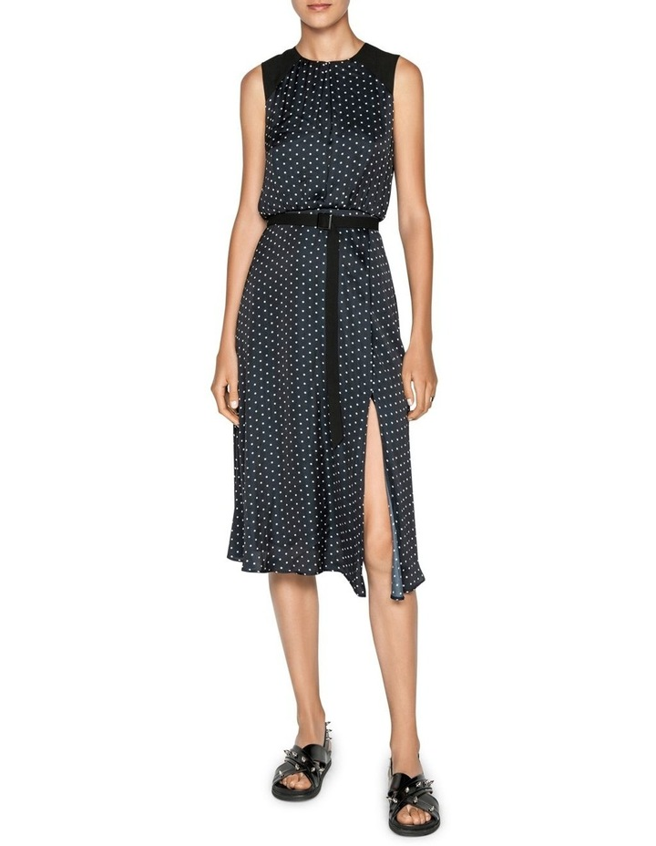 Spot Belted Midi Dress image 1