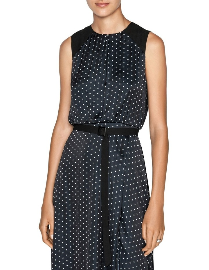 Spot Belted Midi Dress image 2