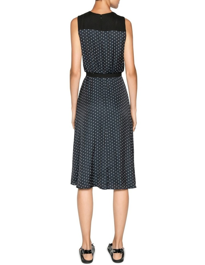 Spot Belted Midi Dress image 3