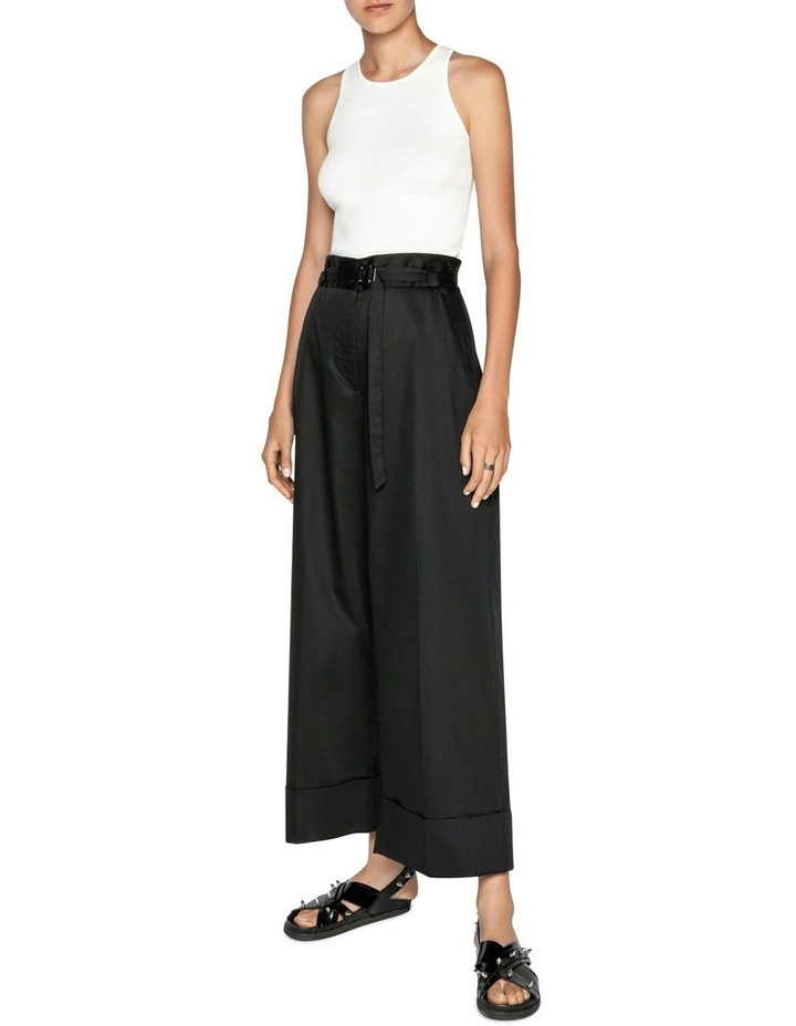 Cotton Belted Wide Leg Pant image 1