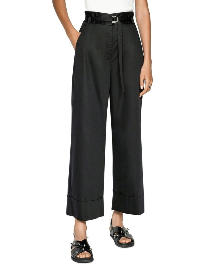Cotton Belted Wide Leg Pant image 2