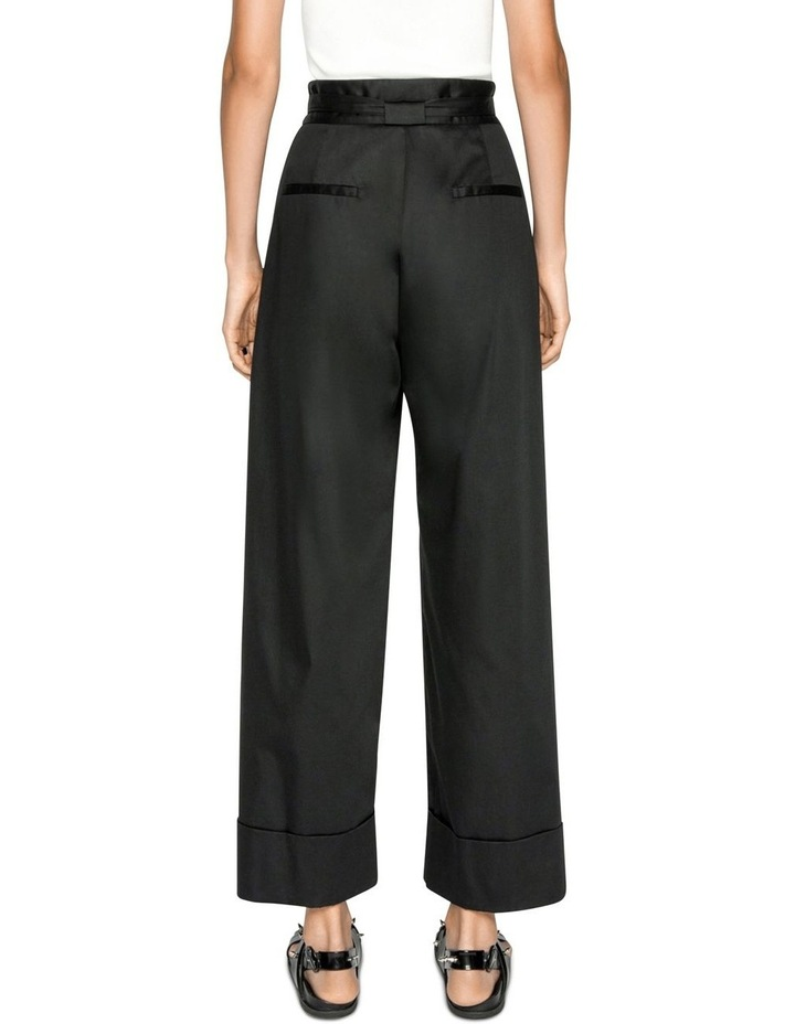 Cotton Belted Wide Leg Pant image 3