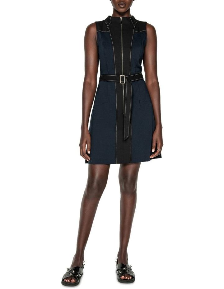 Belted Funnel Neck Dress image 1