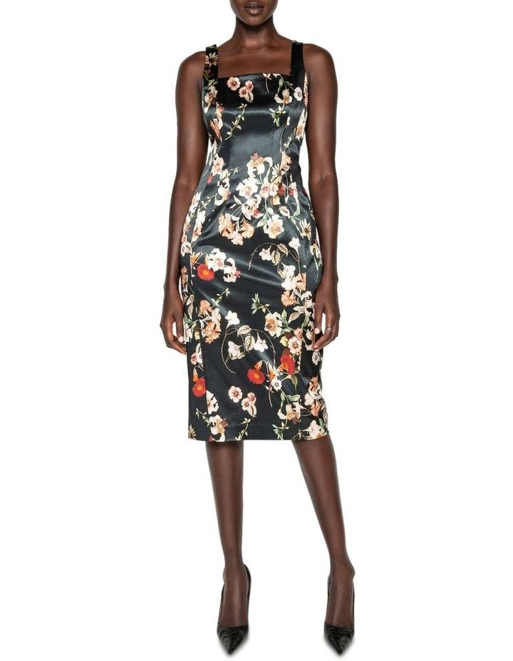Floral Satin Pencil Dress image 1