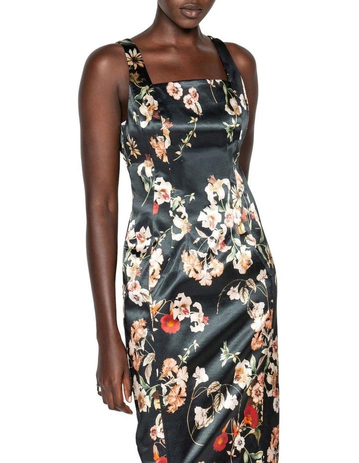 Floral Satin Pencil Dress image 2