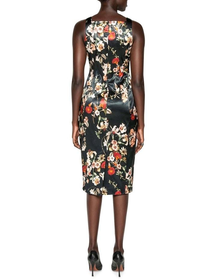 Floral Satin Pencil Dress image 3