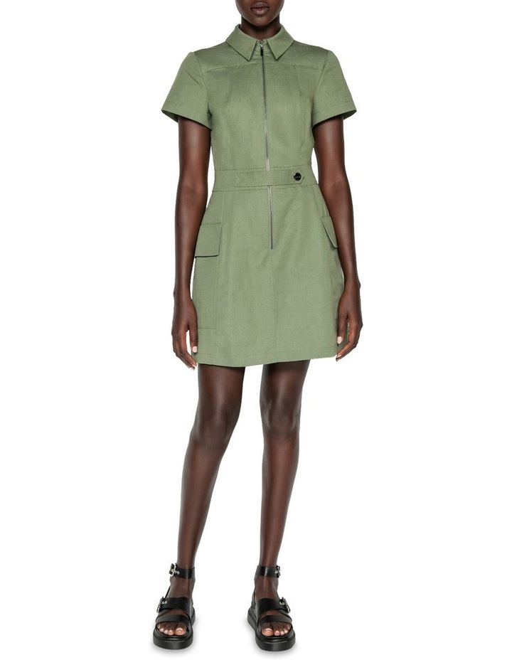 Cotton Linen Twill Utility Dress image 1