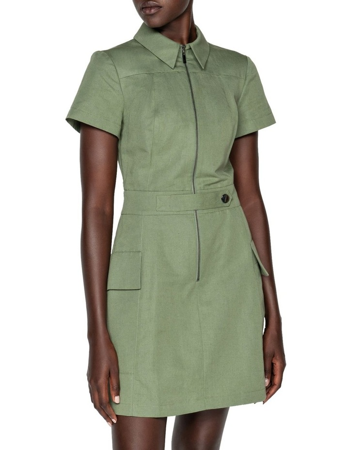 Cotton Linen Twill Utility Dress image 2