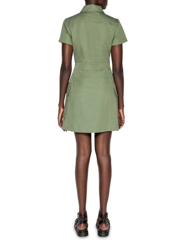 Cotton Linen Twill Utility Dress image 3