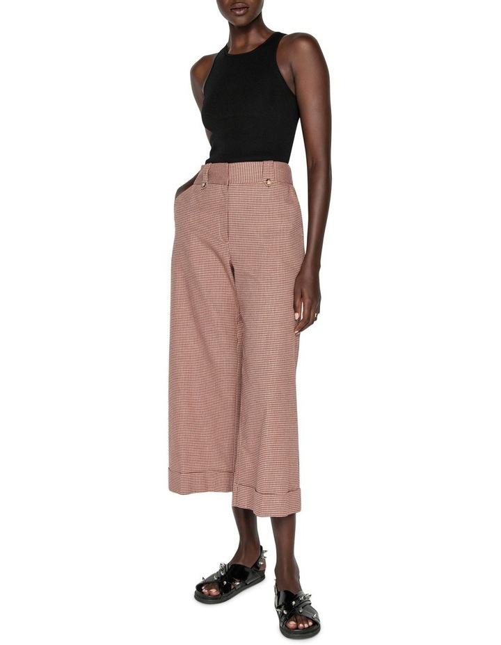 Cotton Linen Mini Check Pant image 1