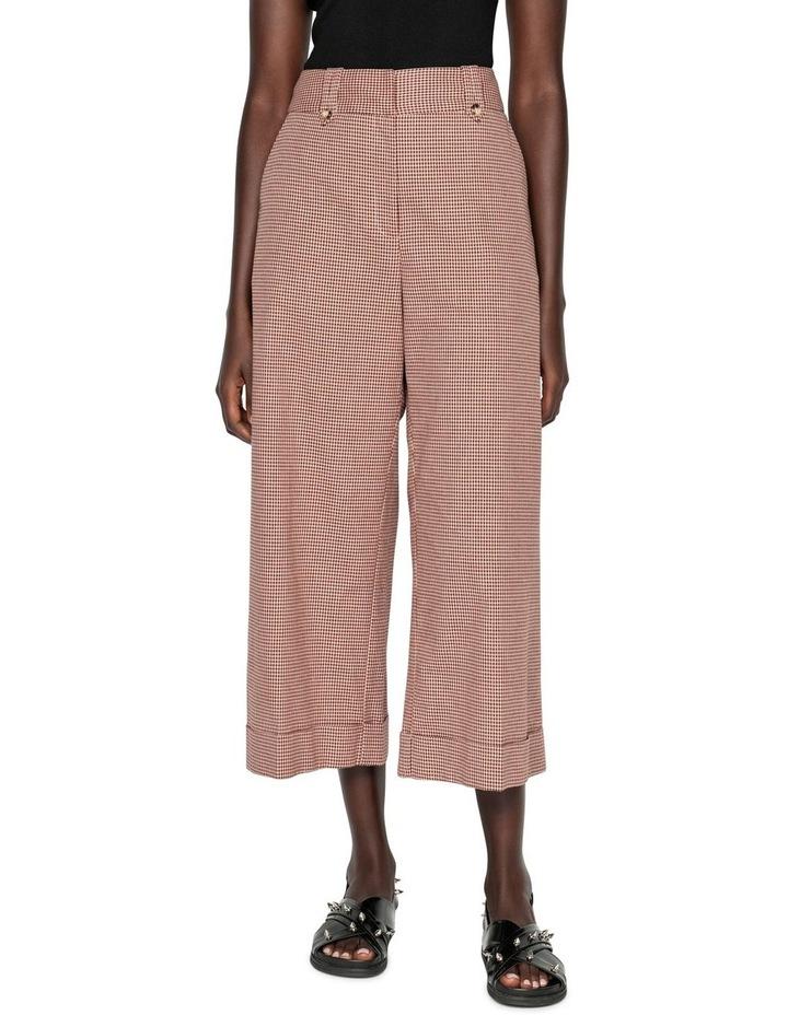 Cotton Linen Mini Check Pant image 2
