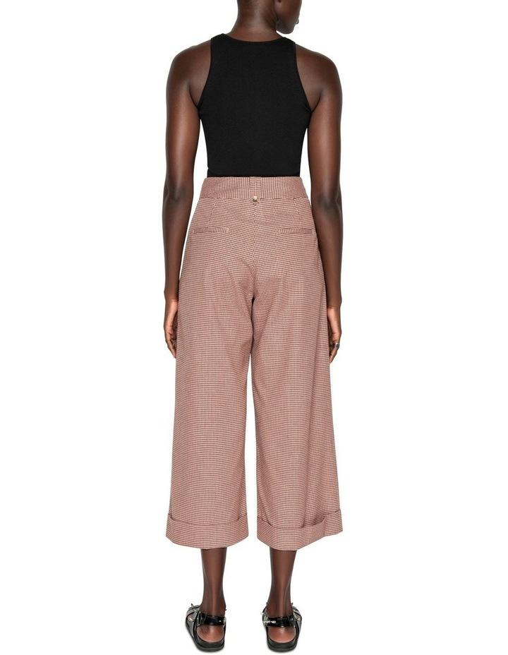 Cotton Linen Mini Check Pant image 3