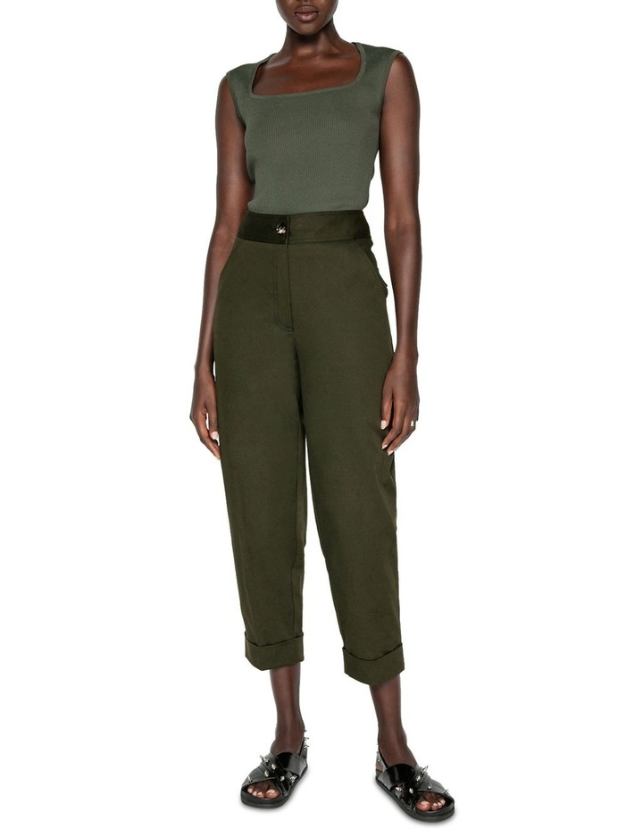 Topstitched Cropped Pant image 1
