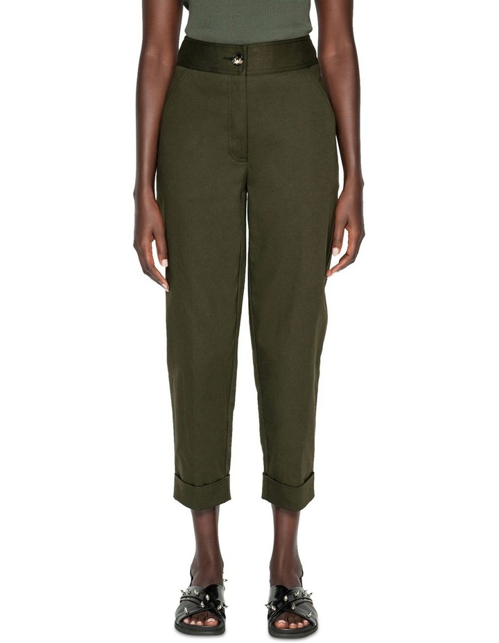Topstitched Cropped Pant image 2