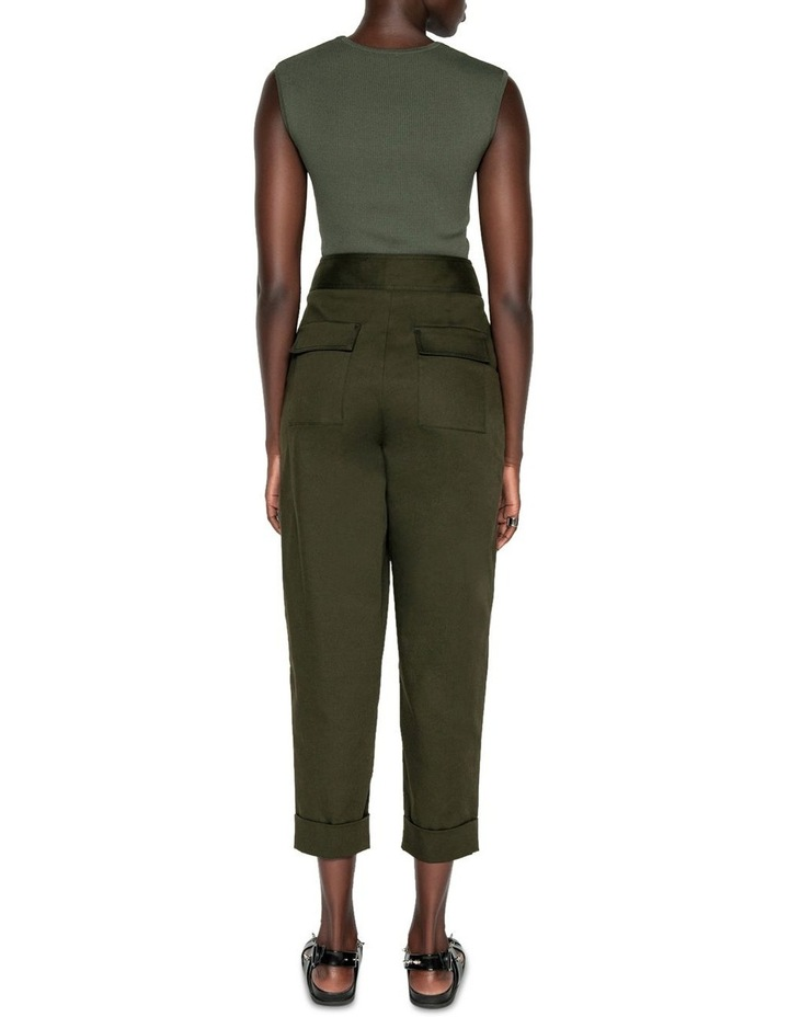 Topstitched Cropped Pant image 3