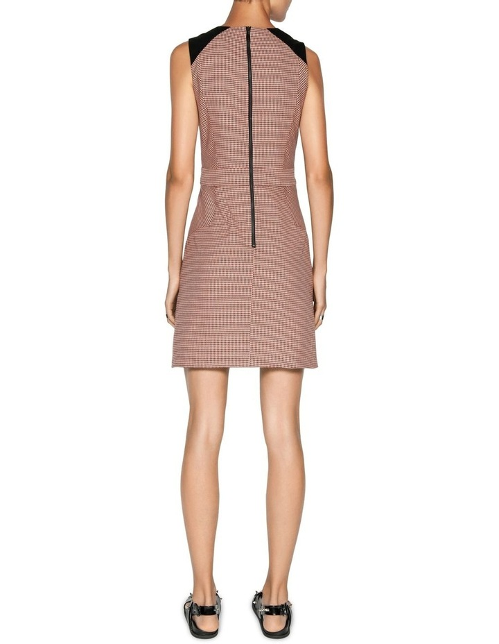 Cotton Linen Check A-line Dress image 3