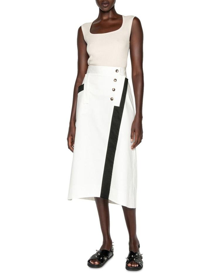 Wrap Front Midi Skirt image 1