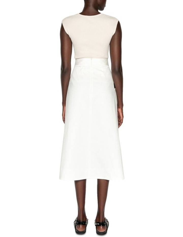 Wrap Front Midi Skirt image 3