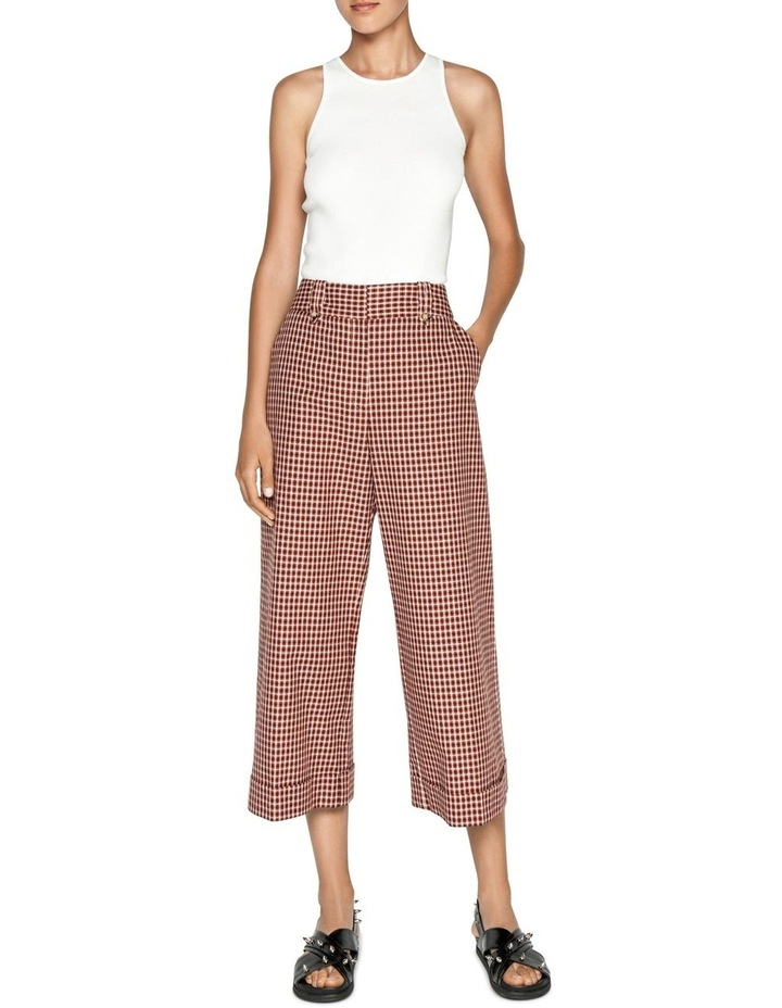 Cotton Linen Window Check Pant image 1