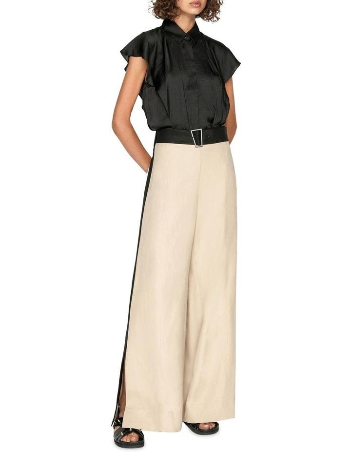 Sand Linen Blend Trouser image 1